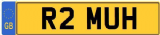 MUHAMMAD R Private Cherished Registration Number Plate MUH MUHAMMED